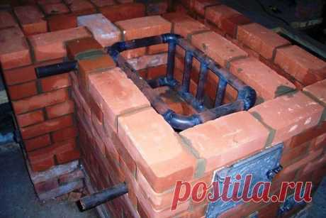 The brick furnace with the built-in copper of water heating: \u000a- Durability. \u000a- Does not demand mostly the additional equipment. \u000a- The furnace accumulates heat and supports it in system of heating decent time. \u000a- Economy on fuel. \u000a- Use for cooking. \u000a- Dryers. \u000a- Minimum fire danger. \u000a- Ease in service.