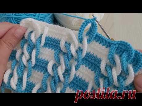 Super Easy 3D Crochet Knitting - Tığ İşi Çok Güzel Örgü Modeli