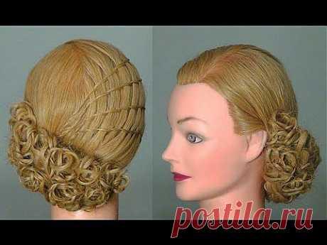 Прическа: Французский водопад. Waterfall twist hairstyle tutorial - YouTube