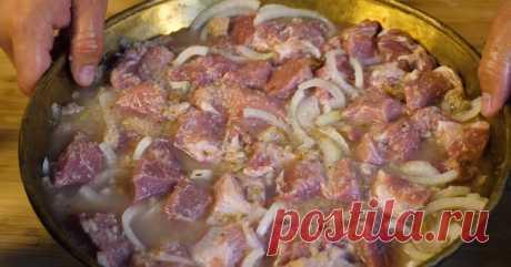 Сочное и нежное мясо, маринованное в хлебе Неожиданно вкусно!