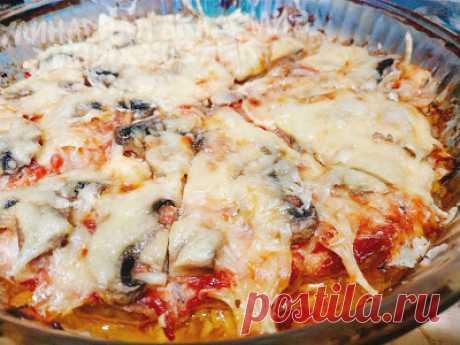 Кулинарная Академия Умных Хозяек: Мясная «пицца» из фарша с грибами по-мексикански