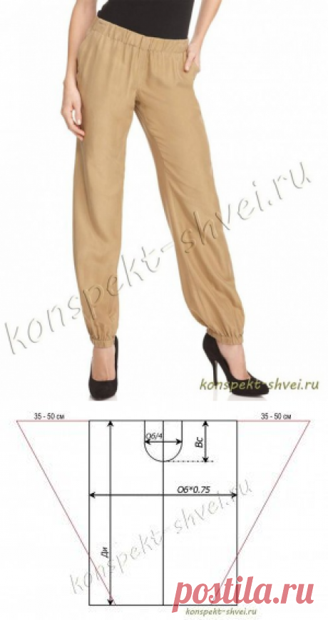 Шитье ✂ Выкройки#Шаровары-султанки и брюки в стиле Бохо