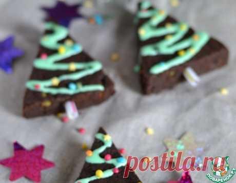 """Брауни с фисташками """"Новогодняя елочка"""" – кулинарный рецепт"""