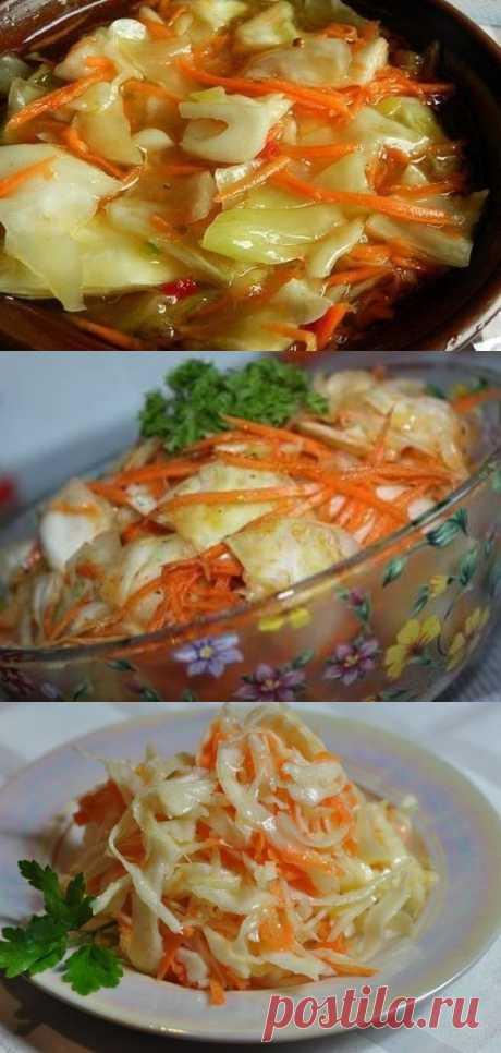 Капуста по-корейски «БОМБА»: всегда будет вас ждать в холодильнике!