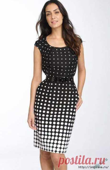 Pattern of a simple elegant dress