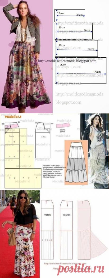 7 моделей юбок на любой вкус с выкройками для всех
