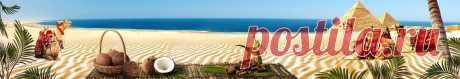 Скинали верблюды на пляже  изображения для кухонного фартука