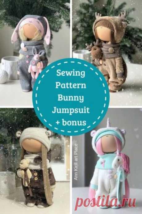 Sewing Pattern Bunny Jumpsuit Beer Deer Unicorn Patterns | Etsy