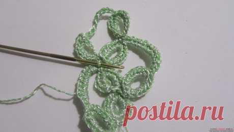Мастер-класс: вязанная крючком тесьма из листочков в технике ленточного кружева