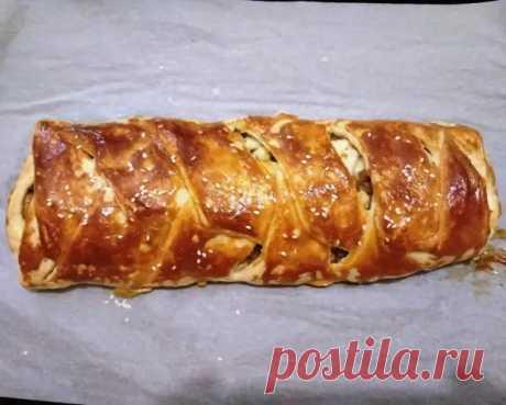 (3) Закусочный пирог-косичка с курицей, грибами и сыром без дрожжей: пошаговый фото рецепт - Ваши любимые рецепты - медиаплатформа МирТесен