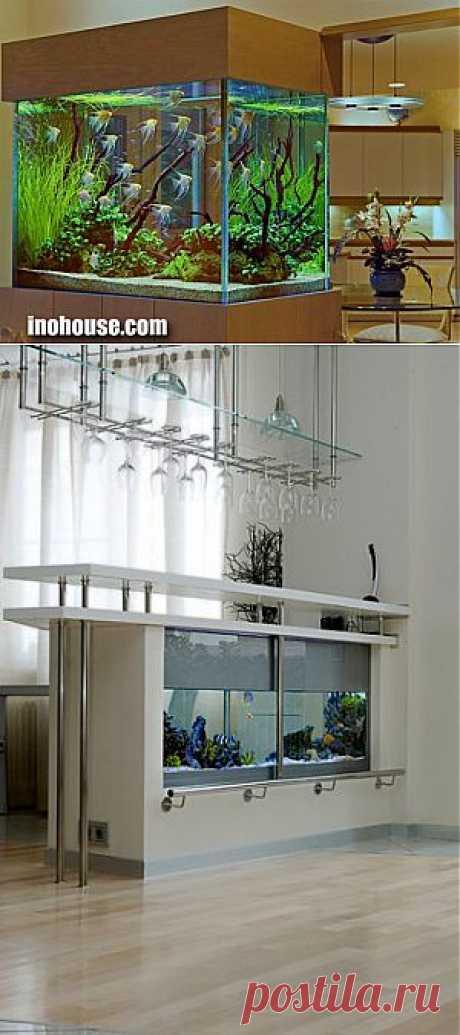 Аквариум в интерьере помещений 30 фото | Inohouse.com