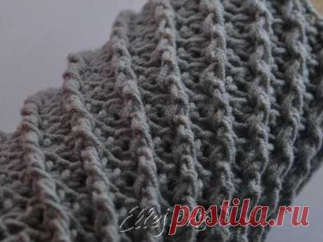 Pattern for a snud Diagonal | Knitting by a hook from Elena Kozhukhar
