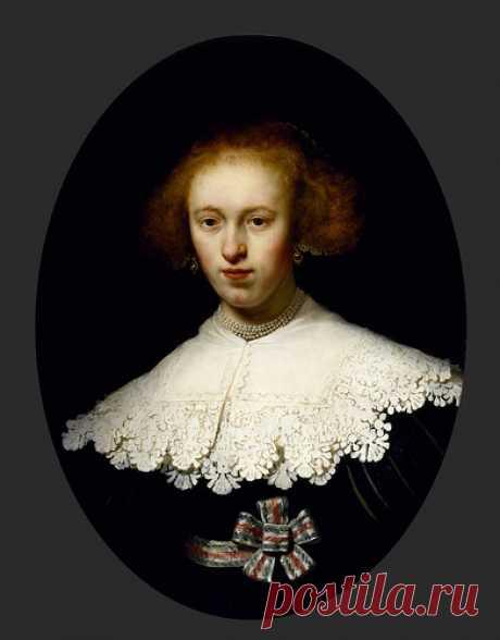 "Rembrandt ""Portrait of a Young Woman"" 1633 | Rembrandt Harme… | Flickr"