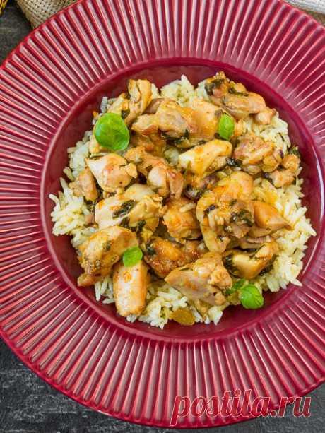 Рецепт апельсиновой курицы с рисом