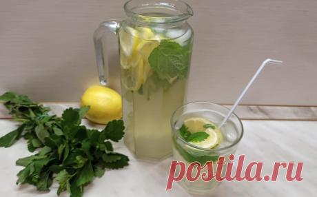 Вкуснейший и освежающий домашний лимонад с мятой