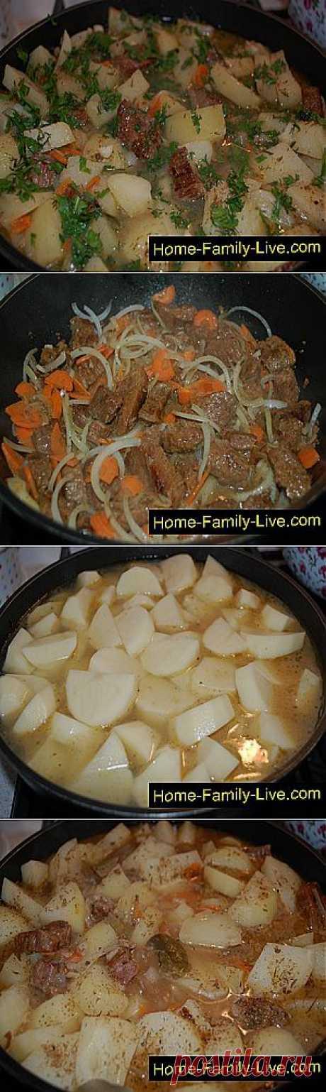 Кулинарные рецепты Картошка с мясом » Кулинарные рецепты