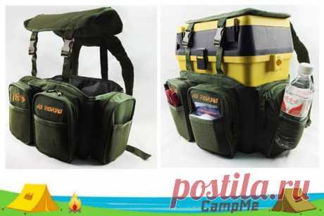 Прочная хорошая сумка для удобной переноски рыбацкого чемодана за спиной. Есть множество собственных кармашков, крепкие лямки, регулировка под размер чемодана. Отличные отзывы и бесплатная доставка.
