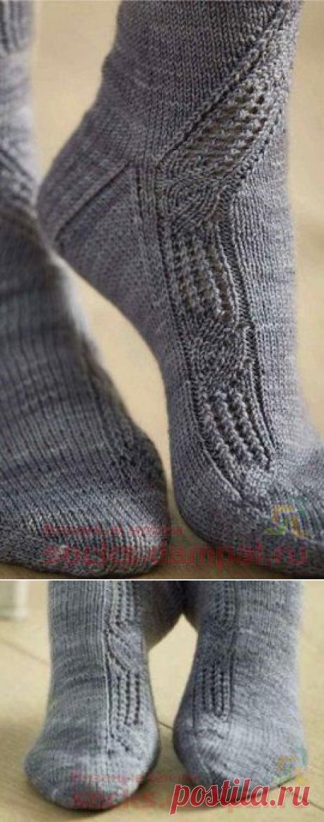 Вязаные носочки «Поморник»   ВЯЗАНЫЕ НОСКИ