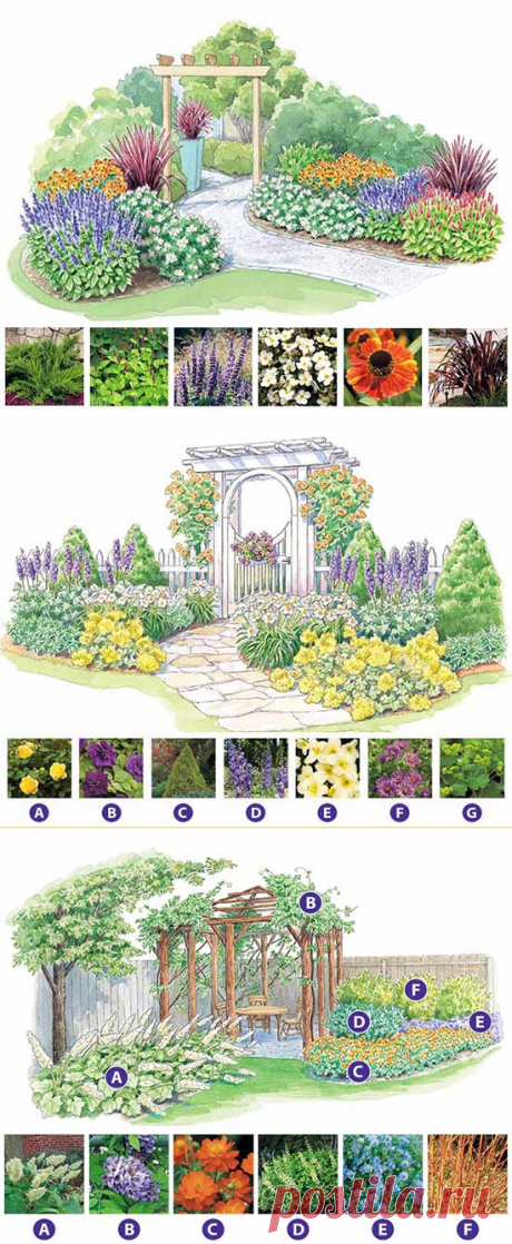 Как сделать красивую клумбу: 15 схем для цветника