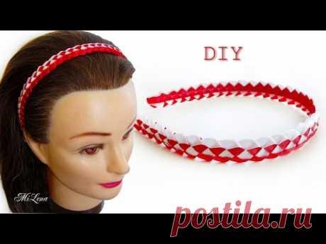 ПЛЕТЕНИЕ ИЗ ЛЕНТ, МК / DIY Ribbon Braid