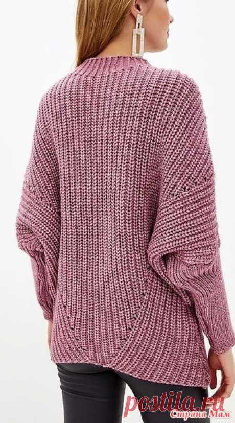 Пуловер патентным узором спицами - ВЯЗАНАЯ МОДА+ ДЛЯ НЕМОДЕЛЬНЫХ ДАМ - Страна Мам