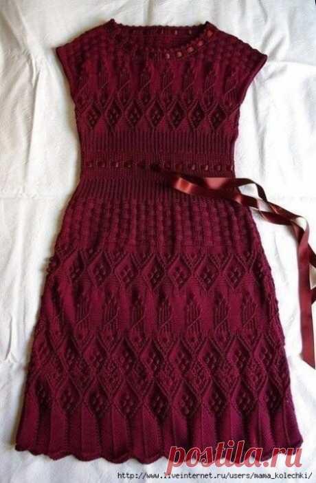 Идея для платья спицами