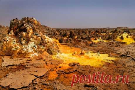 Чужая планета: вулкан Даллол | Все о туризме и отдыхе