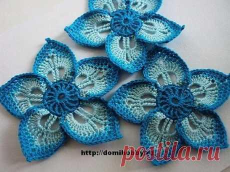 Las flores tejidas