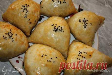 Узбекская самса. Ингредиенты: вода, разрыхлитель, сливочное масло