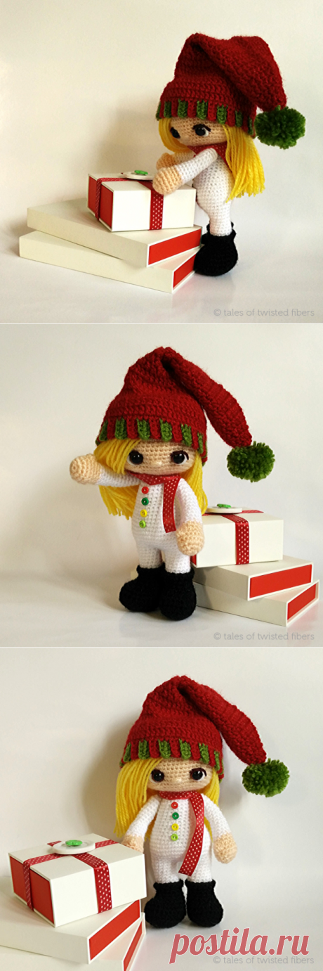 Scheme of knitting of the elf