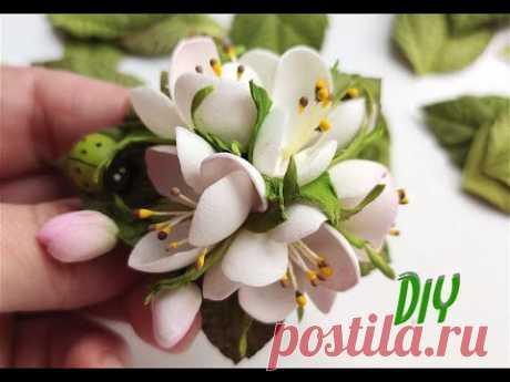 НЕРЕАЛЬНО НЕЖНЫЕ 😍Букетик весенних цветов из фоамирана на резинке 🌷