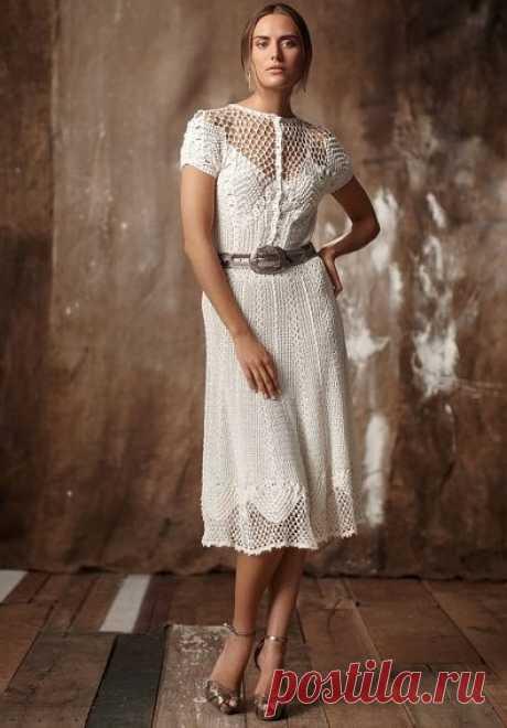 Винтажное платье крючком со схемами. Связать нарядное платье крючком своими руками   Домоводство для всей семьи.