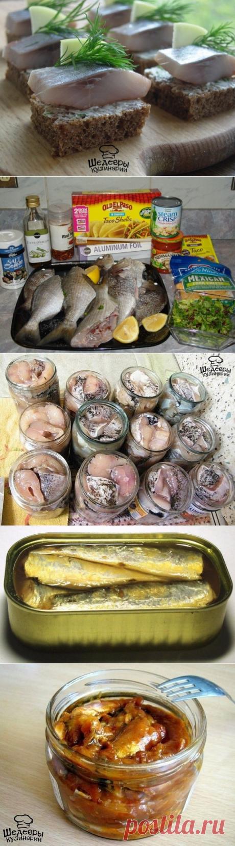 5 рецептов консервирования рыбы