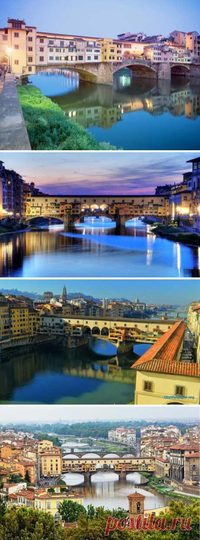 ¿Veíais el puente en que hay unas casas habitables? Florencia, Italia