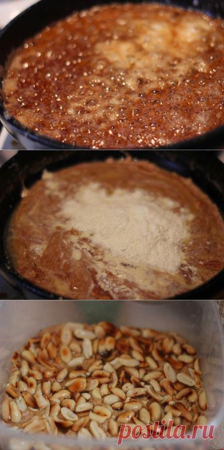 Как приготовить карамельные конфеты с арахисом  - рецепт, ингредиенты и фотографии
