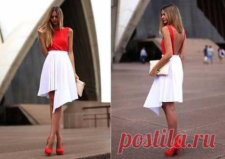 необычная юбка в складку (Dina M) / Вещь / Модный сайт о стильной переделке одежды и интерьера