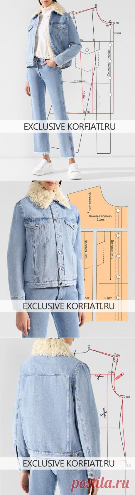 Выкройка женской куртки от Анастасии Корфиати