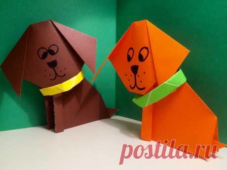 Оригами собака кусака: поделки из бумаги для детей своими руками, мастер класс