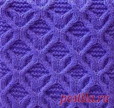 Pattern for a scarf and a cap spokes