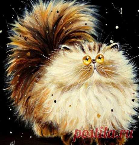 Удивительные коты художницы-самоучки | Арт Енотова - творчество | Яндекс Дзен