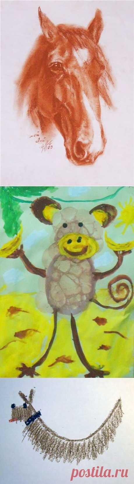 (+1) тема - Продолжаем занимать детей. Нетрадиционные способы рисования. | СДЕЛАЙ САМ!