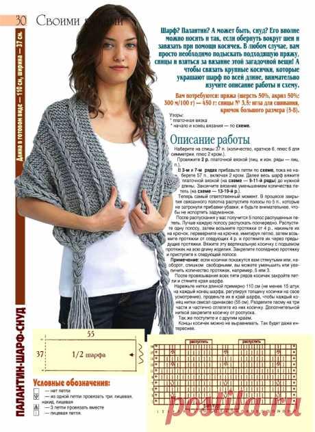 Палантин-шарф-снуд