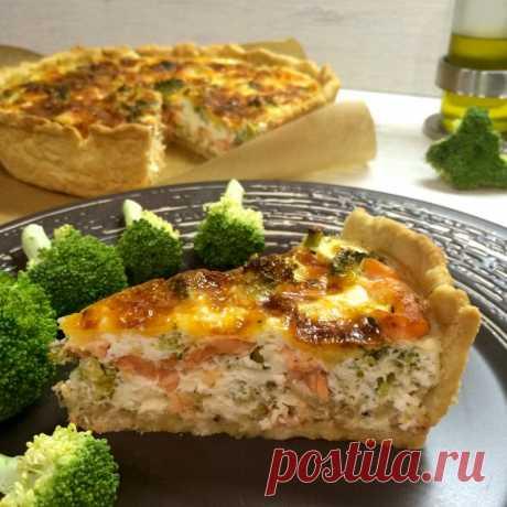 Киш с лососем и брокколи — Sloosh – кулинарные рецепты