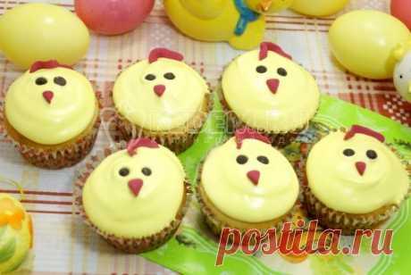 Творожные кексы «Цыплятки» – Пошаговый рецепт с фото. Пасхальные рецепты. Вкусные рецепты с фото