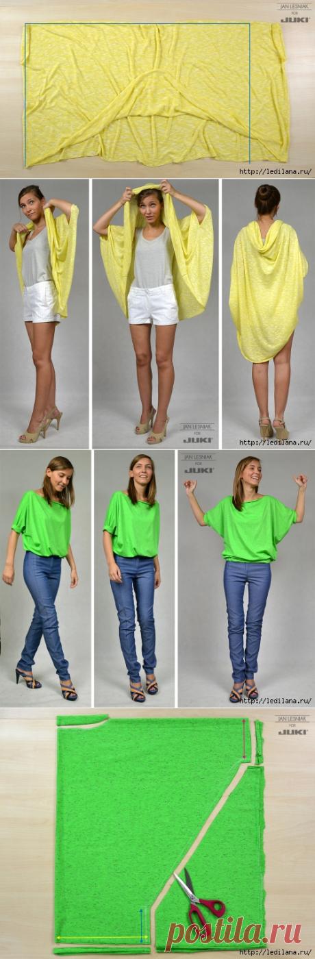 5 трикотажных блуз своими руками без выкроек