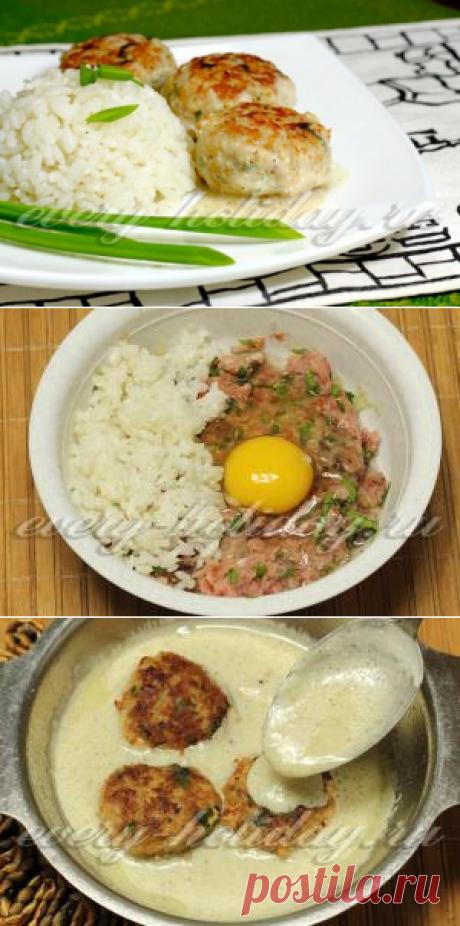Las albóndigas en la salsa de crema agria en el horno: la receta de la foto