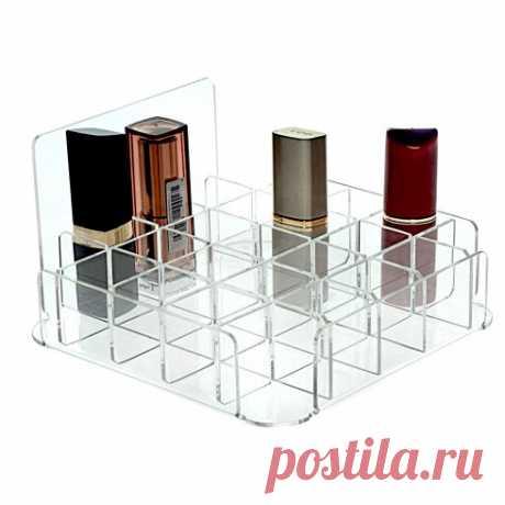 Органайзер под помаду на 25 штук, 15 х 15 х 8 см — купить по цене от 590 руб.