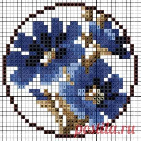 (87) Миниатюрные вышивки + схемки | броши