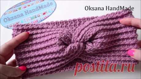 Повязка на голову крючком. crochet headband