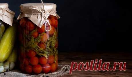 Маринованные помидоры с морковной ботвой - Лайфхакер